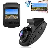 【Sensore SONY&WiFi】CHORTAU Telecamera per Auto WiFi SONY Sensore Full HD 1080P, Dashcam Schermo da 2 pollici 170 ° Grandangolo, Videocamera per auto con Registrazione ad Anello, Monitor di Parcheggio