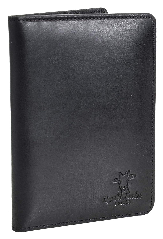Etui passeport Gusti Cuir studio Brodie organizer r/étro housse passeport vintage pochette porte-documents homme femme cuir de vachette noir 2S40-33-7
