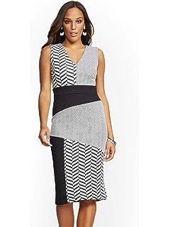 0358283d8523df Amazon.com: New York & Co. Women's Stripe Sweater Sheath Dress: Clothing