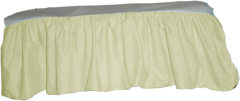 Baby Doll Gingham//Eyelet Patchwork Crib Skirt//Dust Ruffle Yellow