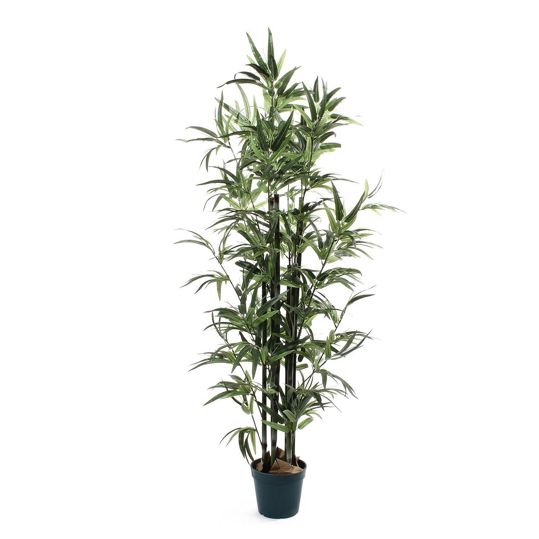 De Vielle Künstliche Künstliche Künstliche Bambus Baum Realistische Home Pflanze Dekoration, Metall, grün, 4 ft 8b249c