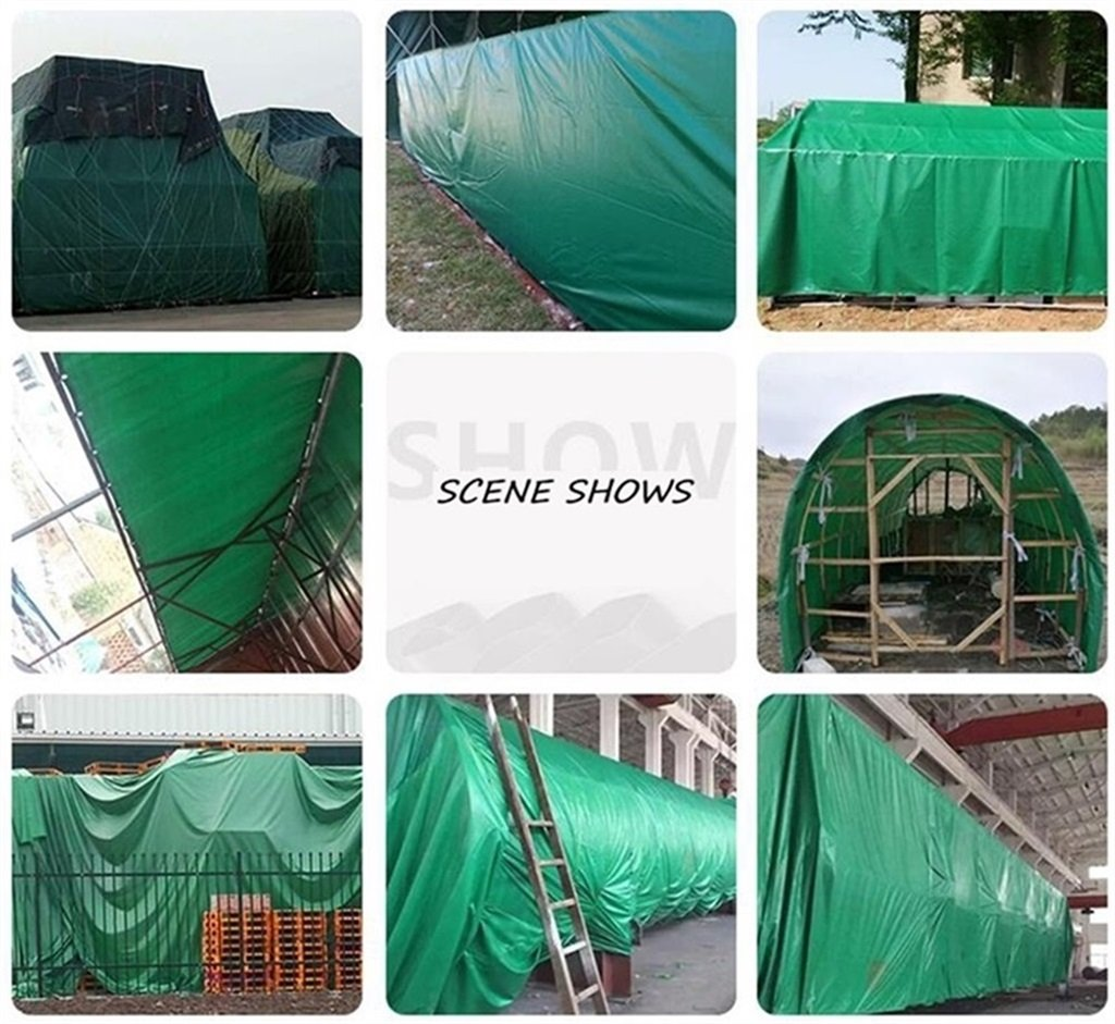 200g//m/²,Thickness 0.35mm Tarpaulin Heavy Duty Waterproof Tarpaulin Truck Ground Sheet Covers with Double-sided Color