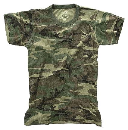 1a974338b8ea9 Amazon.com: Rothco Kids Vintage T-Shirt - Woodland Camo: Sports ...
