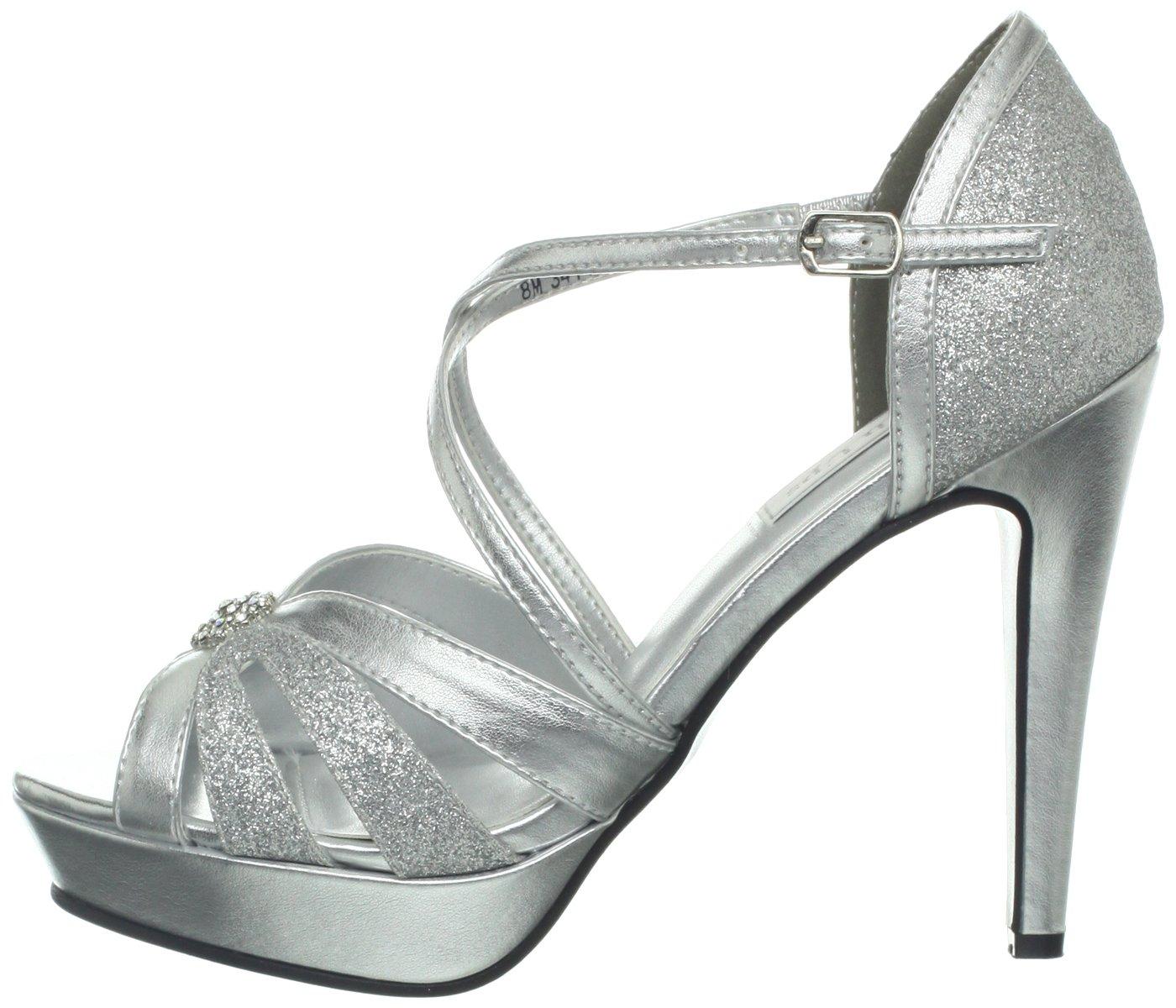 Touch Ups Women's Stella Sandal B00CQI0FKE 6 B(M) US|Silver Metallic