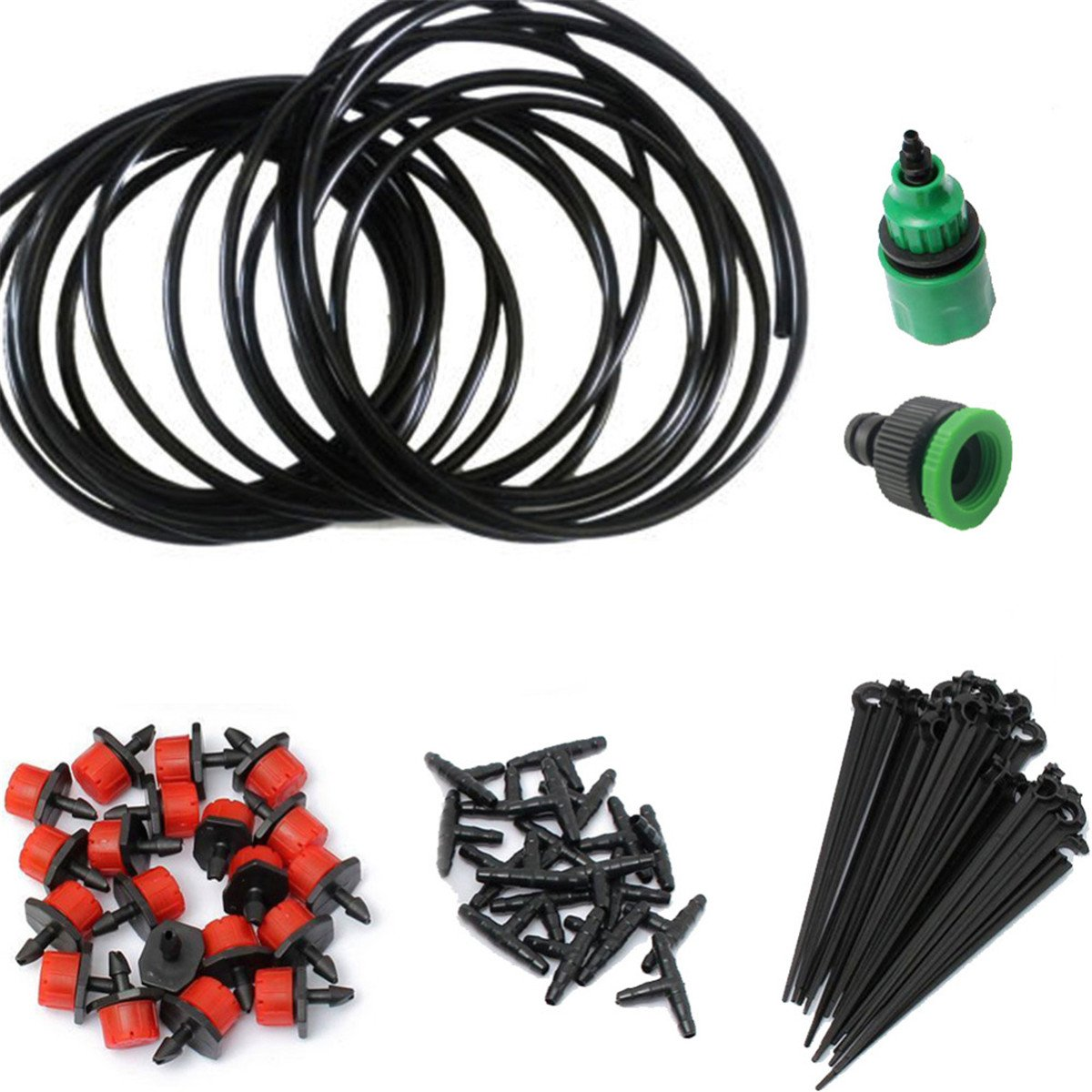 Irrigation Spray for Patio Garden Flower Plants Lycheer lychee Irrigation Watering System 82ft DIY Micro Irrigation Drip System-Tubing Watering Drip Kit