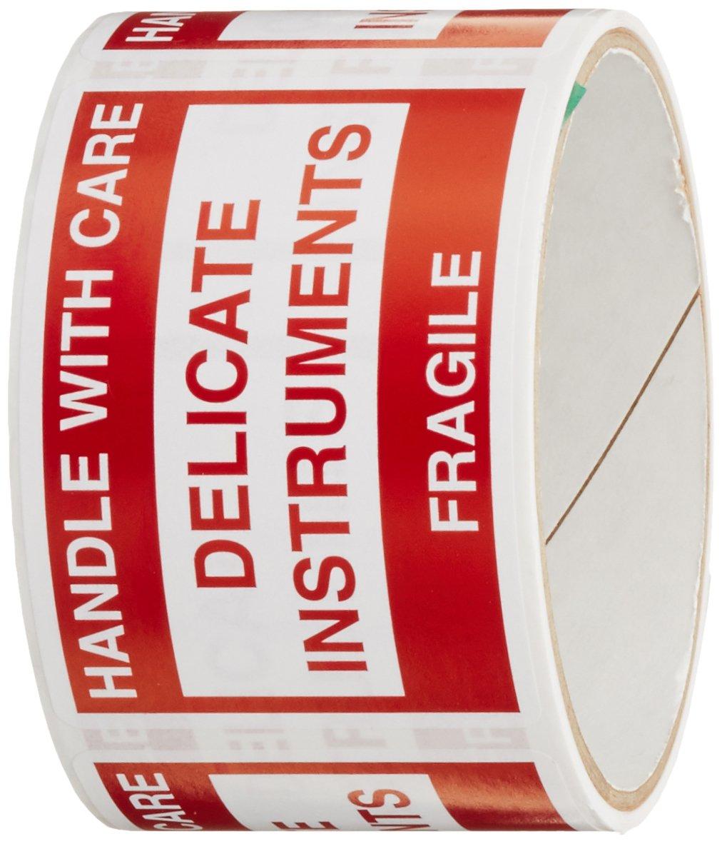 TapeCase SHIPLBL-011-50'Delicate Instruments, Fragile' Label - 50 per pack (1 Pack) Fragile Label - 50 per pack (1 Pack)