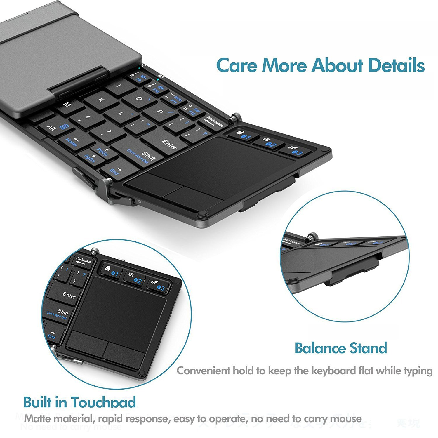 Bluetooth Keyboard Iclever Folding With Cheap Circuit Design Find Deals On Sensitive Touch Pad Sync Up To 3 Devices Pocket Sized Tri Wireless