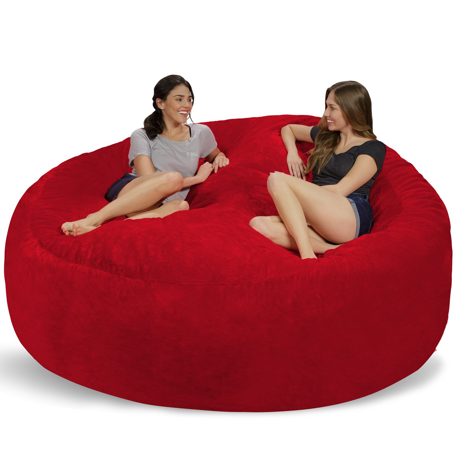 Amazon.com: Chill Sack - Bean Bags Huge Bean Bag, 8', Red Furry: Kitchen &  Dining - Amazon.com: Chill Sack - Bean Bags Huge Bean Bag, 8', Red Furry