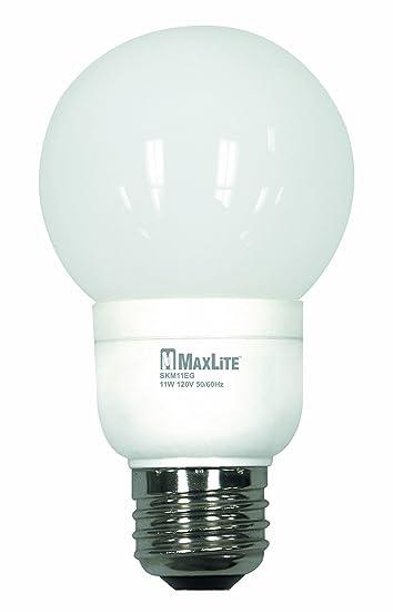 MaxLite SKM11EGWW G20 Globe 40-Watt incandescent equivalent Energy ...