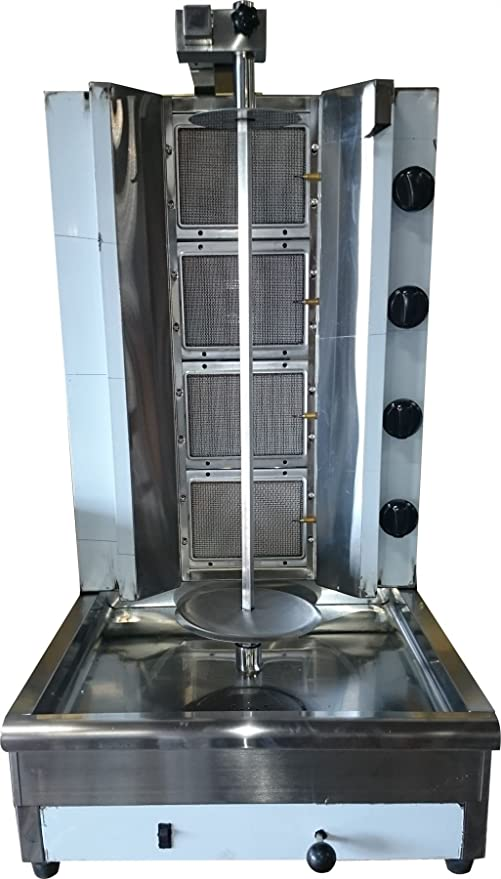 Tacos Al Pastor Gas doner kebab máquina – Shawarma parrilla gyros vertical automática Broiler – elegir 1, 2, 3 o 4 quemadores propano o eléctrica: Amazon.es: Hogar