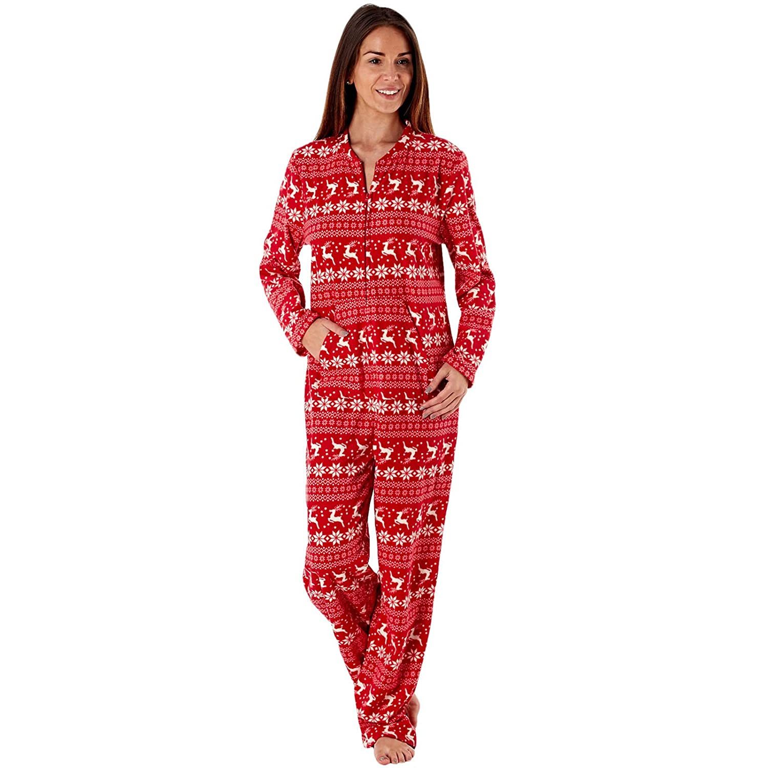 be16e060181f Product description. Ladies Selena Secrets Microfleece All In One Sleepsuit  Soft micro fleece all in one with Fair Isle ...