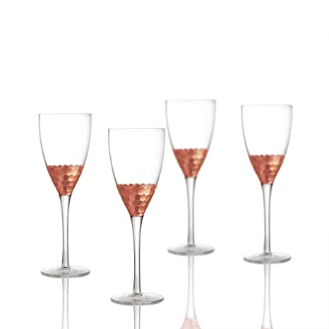 919b6a3410e Fitz and Floyd Daphne Wine Glasses (Set of 4), Copper