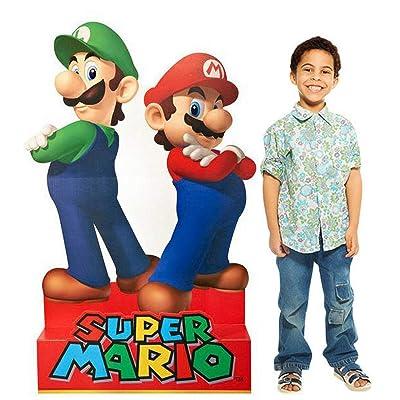 Birthday Express Super Mario Party Supplies - Mario & Luigi Life Size Cardboard Standup Combo Kit: Toys & Games