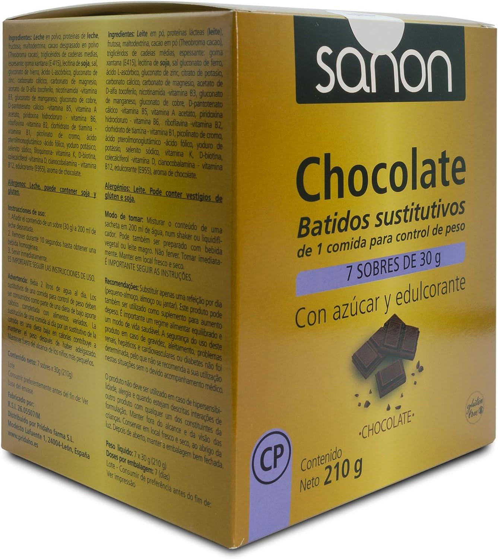 SANON - SANON Batido Sustitutivo Sabor Chocolate 7 sobres de 30 gr
