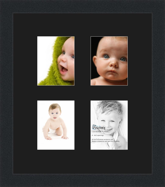 Amazon.de: arttoframes Foto Collage Rahmen Doppel-Matte mit 4-4 x 5 ...