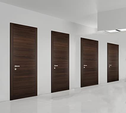Planum 0010 Interior Door Chocolate Ash 32u0026quot; X 80u0026quot; With Handle  Lock Hinges (