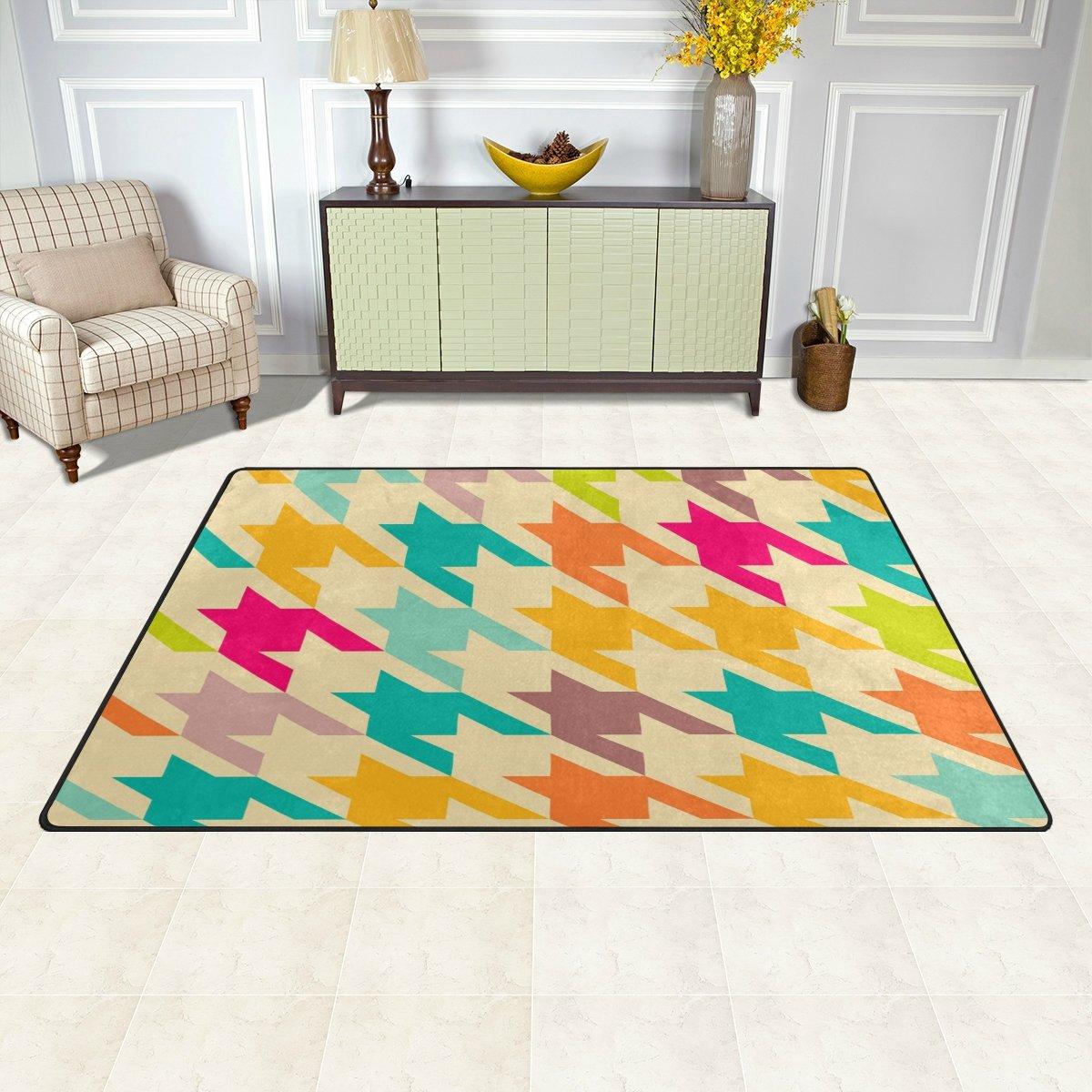 Kess InHouse Julia Grifol My Butterflies /& Flowers in Brown Rainbow Floral Decorative Door 2 x 3 Floor Mat