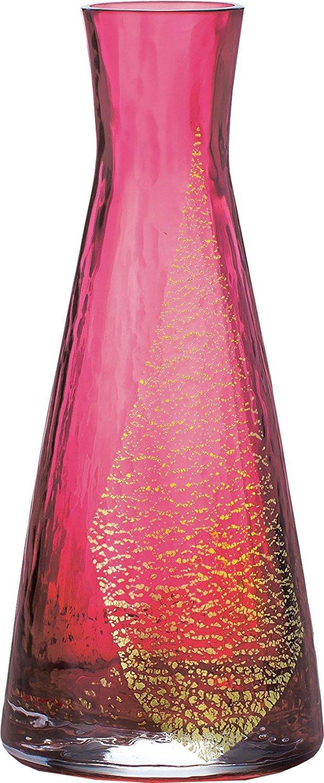江戸硝子 花瓶 紅玻璃 一輪挿し ガラス 花器 赤 レッド φ7.5×17.5cm LV68801RAU B00BS49F4Y
