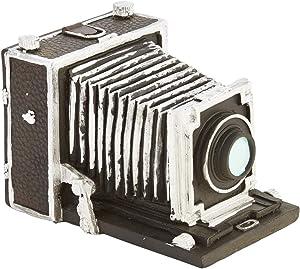 Sagebrook Home AR10423-01 Old Camera Decor, Black Polyresin, 5.5 x 4.75 x 4 Inches