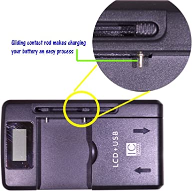 NEW EXTERNAL UNIVERSAL TRAVEL BATTERY CHARGER CRADLE PDA MOBILE PHONE CAMERA