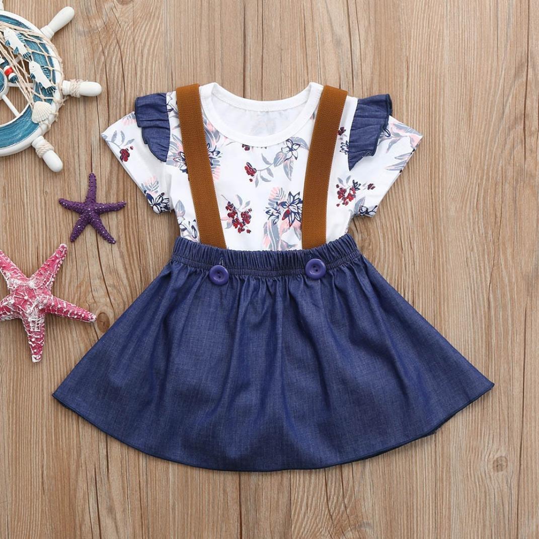 b11f9c2059c8 Amazon.com  CCSDR Baby Girl Strap Skirt+Romper