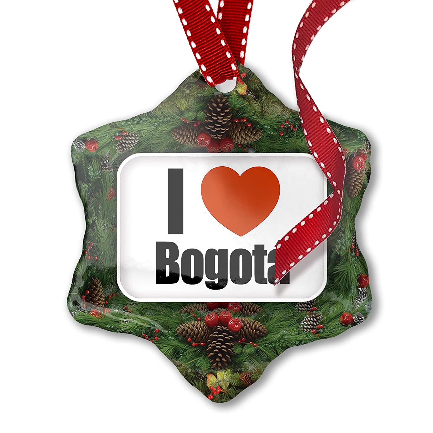 Christmas In Colombia South America.Amazon Com Neonblond Christmas Ornament I Love Bogoti