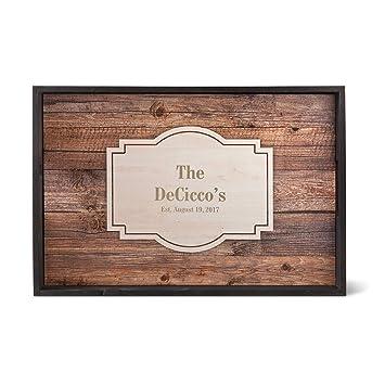 Personalizado madera bandeja para servir