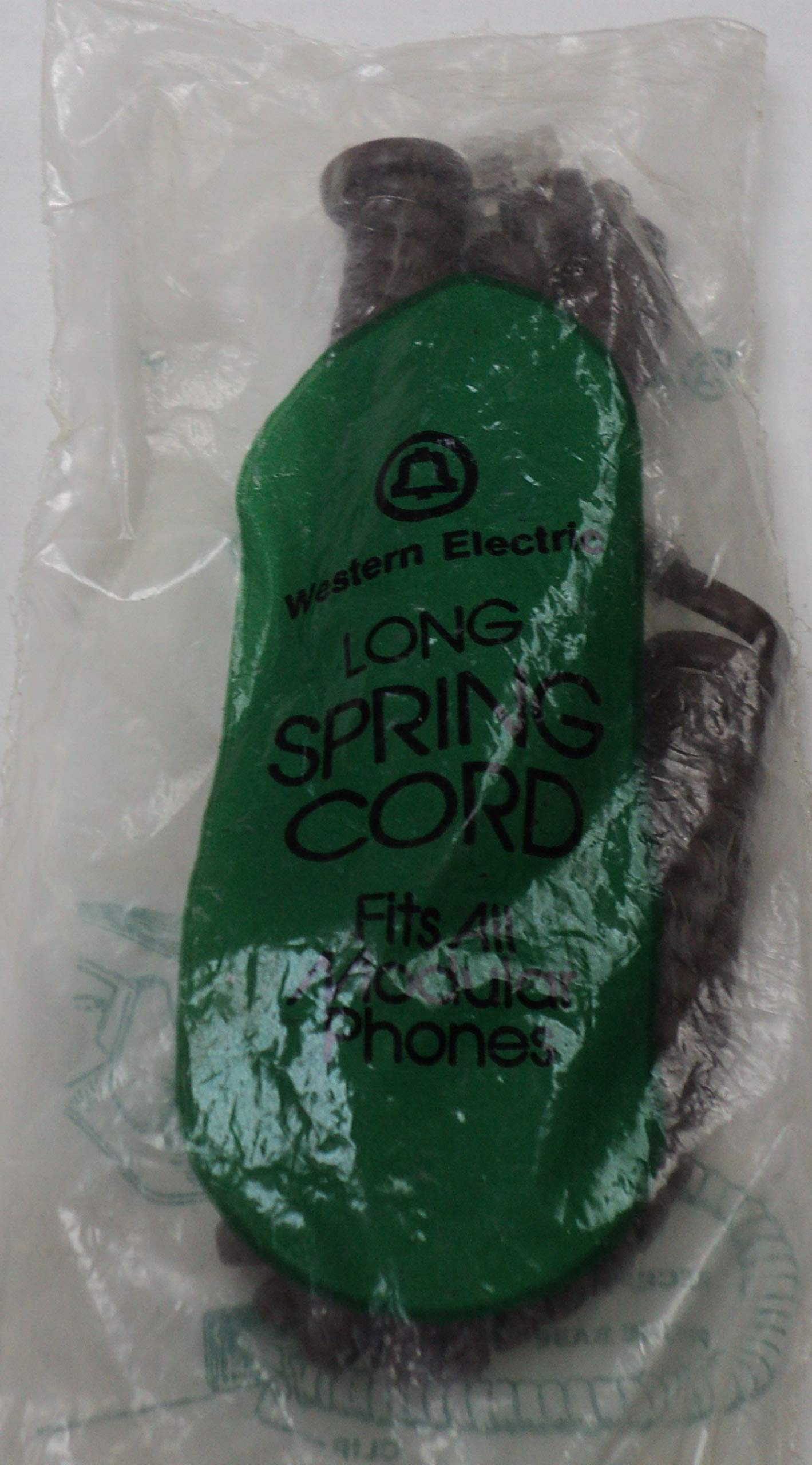 Western Electric/Bell System H4DU 104 Long Brown 12' Ft Handset Phone Coil Curly Receiver Cord NOS