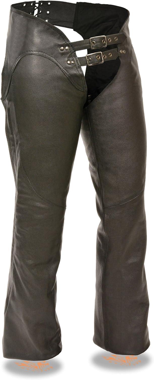 Milwaukee Womens Leather Chaps Black, 4X-Large