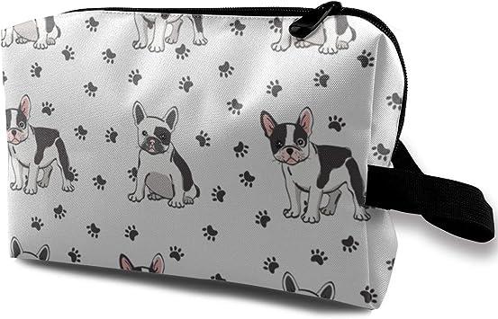 Bonito estuche organizador de viaje con diseño de bulldog francés: Amazon.es: Equipaje