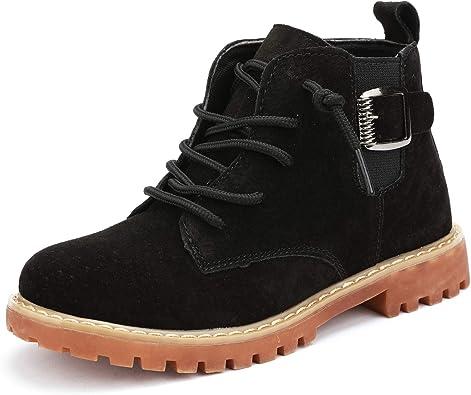 UBELLA Boys Girls Waterproof Side Zipper Lace-Up Ankle Boots Toddler//Little Kid