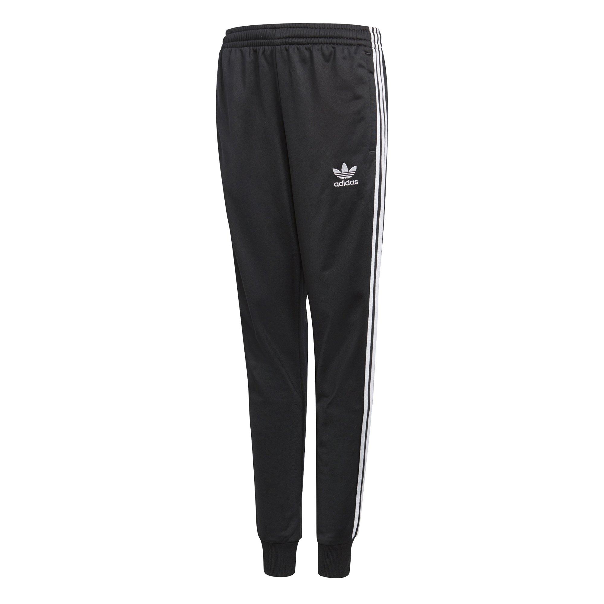 adidas Originals Big Boys' Originals Superstar Pants, Black, L