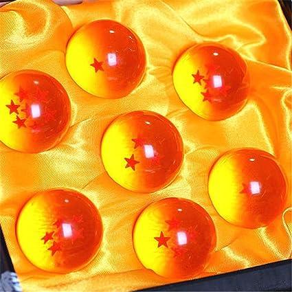 New 7Pcs Stars Dragon Ball Z Crystal Balls Set Collection In Box 4.5 cm