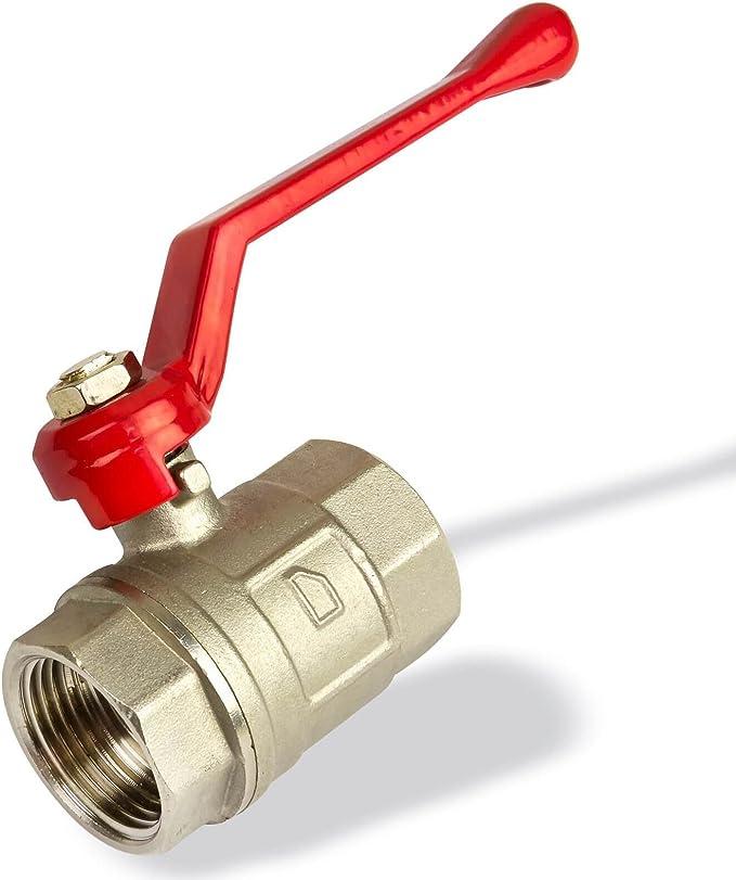 Vanne à bille laiton F//F Boisseau sphérique manchons robinet à bille robinet à tournant sphérique robinet avec levier