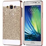 Trifty Sparking Hard Back Case Cover For Samsung Galaxy A7 2015 - Gold