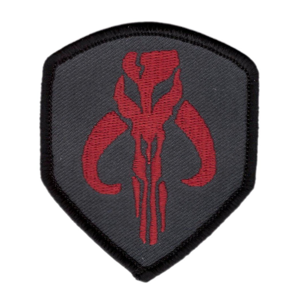 Hook Patch Mandalorian Skull Symbol Boba Fett Star Wars Patch by Titan One Europe Écusson Brodé Fixation Crochet