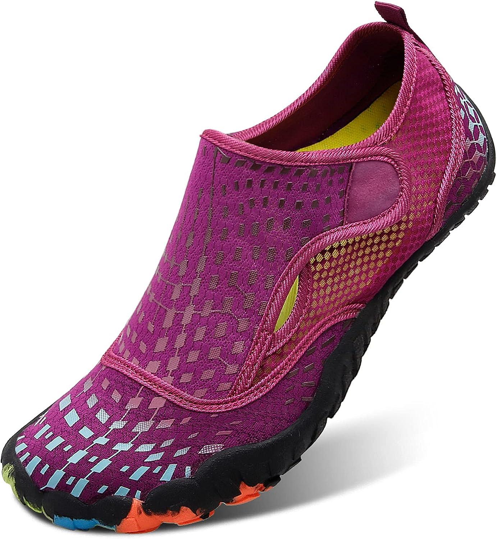   L-RUN Athletic Hiking Water Shoes Mens Womens Barefoot Aqua Swim Walking Shoes   Hiking Shoes