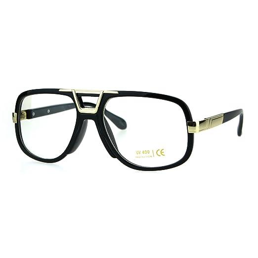 3cda1b1c600b Mens Retro Hip Hop Rapper Nerdy Plastic Mob Racer Eye Glasses Black Gold