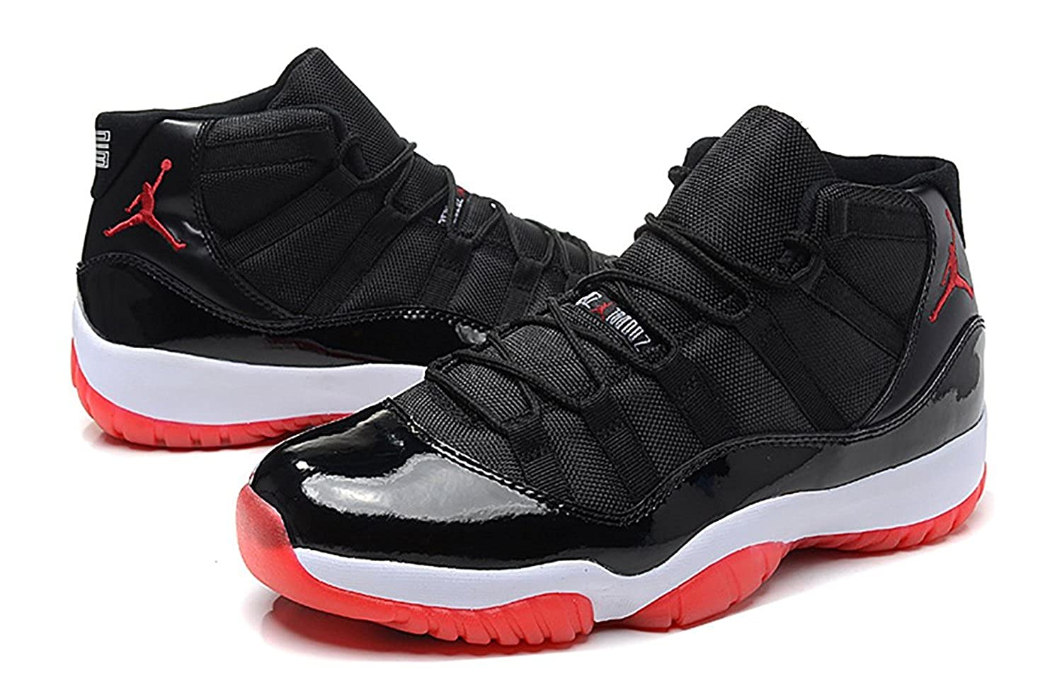 "Air Jordan 11 Retro HIGH Mens ""BRED"" Black/True Red/White Patent Leather"