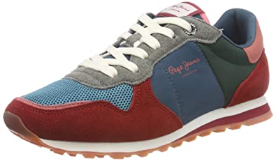 9cb4a762c59d Pepe Jeans London Women s Verona W Room Low-Top Sneakers Red (Date 470)