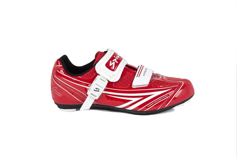 Spiuk Brios Road - Zapatilla de ciclismo unisex, color rojo/blanco, talla 49: Amazon.es: Deportes y aire libre