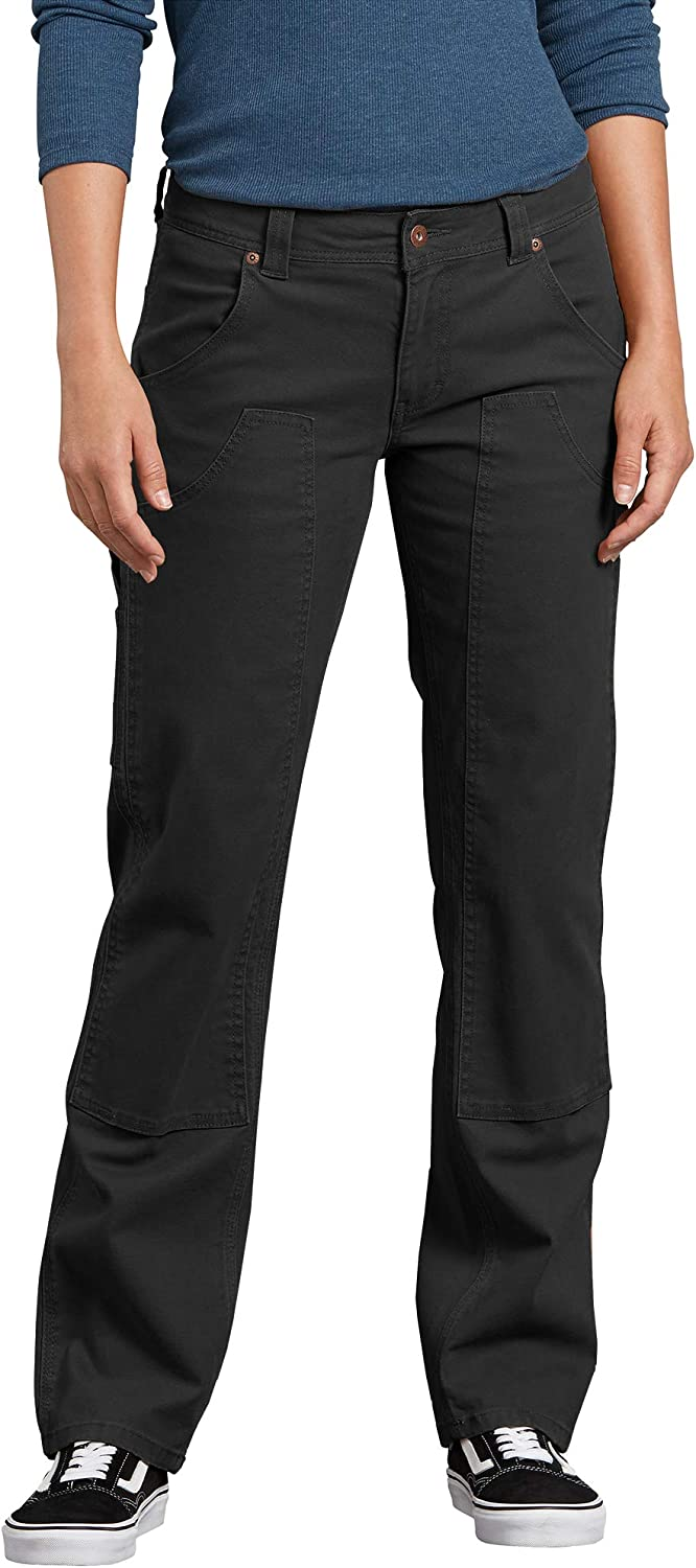 Dickies Women's Relaxed Straight Stretch Double-Front Carpenter Pant: Clothing