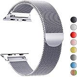 MouKou Remplacement Bracelet pour Apple Watch série 4 40mm et série 3/2/1 38mm Boucle en Mesh iWatch Milanese avec Fermoir magnétique en Acier Inoxydable
