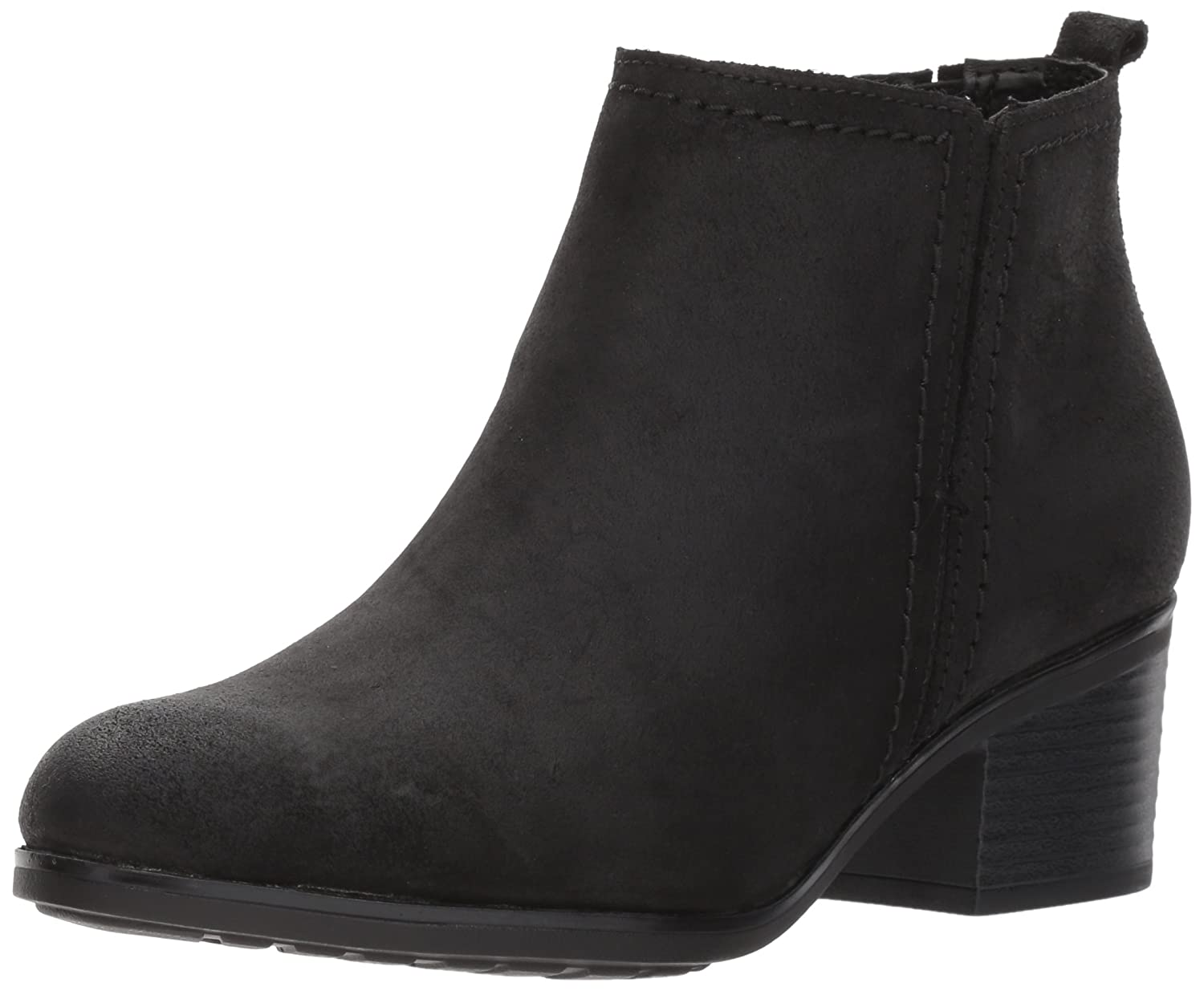 Black Leather Rockport Womens Danii Side Zip Ankle Bootie