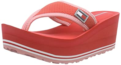 2b382a23c Tommy Hilfiger Women s M1285EAGAN 1D Sport Flip Flops Red Rot (Cayenne 705)  3.5