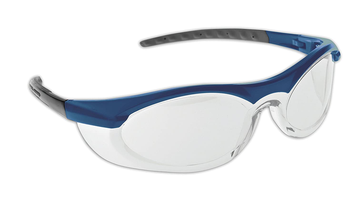 Dynamic Safety EP310BLC Cyclone II Blue and Grey Safety Spectacles with Clear Lens