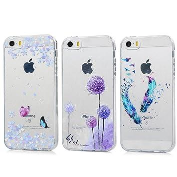 45d521bcea2 KASOS 3 x Carcasas iPhone 5/iPhone 5S/iPhone SE Fundas Silicona TPU Case