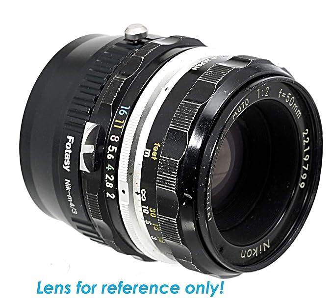 Fotasy Nikon Lens to Micro 4/3 Adapter, fits Olympus E-PL6 E-PL7 E-PL8 OM-D  E-M1 I II E-M1X E-M5 I II III E-PM2 E-PM1 Pen-F/Panasonic G7 G9 GF6 GF7