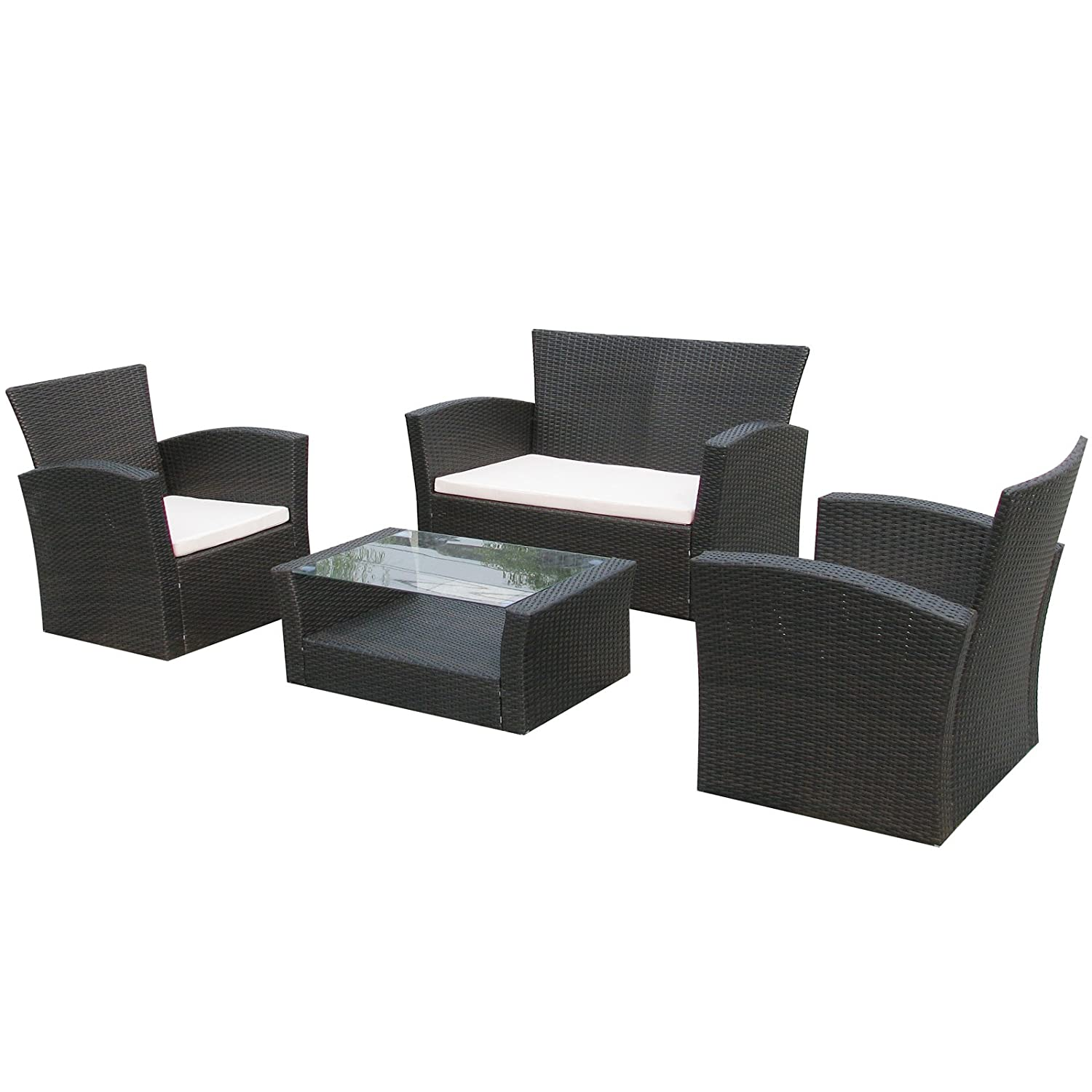 gartenmoebel lounge set lyon in braun garten moebel rattan polyrattan gartenausstattung von jet. Black Bedroom Furniture Sets. Home Design Ideas