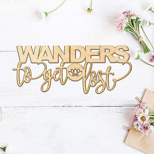 Yor242len Wanders to Get Lost - Cartel de Madera con Grabado ...